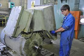 تصویر الکتروموتور ۴۰۰۴ شرکت پالایش نفت اصفهان بازسازی کامل شد