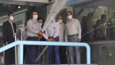 تصویر برگزاری مانور آموزشی توجیهی کار با تجهیزات آتش نشانی در شرکت گاز استان اصفهان