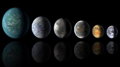 تصویر کشف ۴۵ سیاره دوردست مشابه زمین که آب مایع دارند