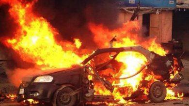 تصویر خودروی سازمان سیا در عراق هدف حمله قرار گرفت
