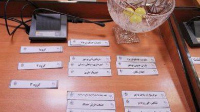 تصویر قرعه کشی مرحله دوم لیگ برتر فوتبال ساحلی برگزار شد