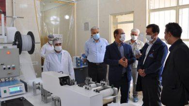 تصویر بازدید مدیر عامل از کارگاه ماسک زنی شرکت تعاونی مصرف کارکنان شرکت پالایش نفت اصفهان