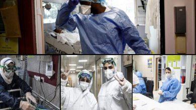 تصویر روزهای سخت مراقبت از بیماران کرونایی/۶۰۰۰ پرستار از نفس افتادند