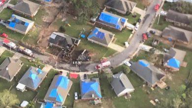تصویر سقوط هواپیمای نیروی دریایی آمریکا در آلاباما / ۲ تن کشته شدند