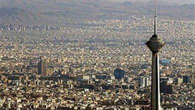 تصویر هوای پایتخت با شاخص ۹۴ در شرایط سالم قرار گرفت