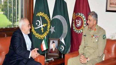 تصویر ظریف با فرمانده ارتش پاکستان دیدار کرد