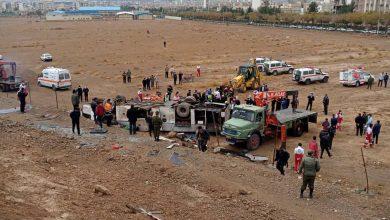 تصویر لغزندگی جاده، برای کارکنان پالایشگاه اصفهان حادثه تلخ آفرید
