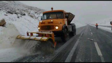 تصویر آخرین وضعیت راهها/ بارش برف و باران در محورهای ۲۳ استان