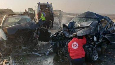 تصویر حادثه رانندگی در محور مرند- جلفا/ ۷ نفر مصدوم شدند