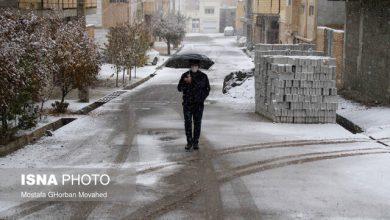 تصویر بارش برف از شنبه در آذربایجان شرقی