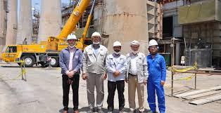 تصویر تجهیز اکونومایزر در کانال دو خروجی دیگ بخار شماره ۲ شرکت پالایش نفت اصفهان نصب شد