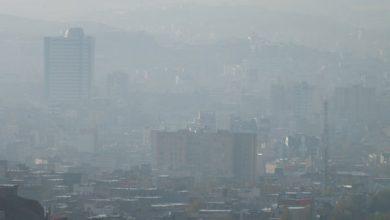 تصویر هوای شهر تبریز برای گروههای حساس ناسالم شد