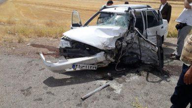 تصویر حادثه خونین رانندگی در محور بستان آباد- سراب با ۳ کشته و ۲ مجروح