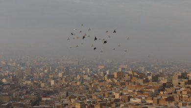 تصویر هوای تبریز برای تمامی گروههای سنی ناسالم است