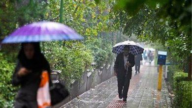 تصویر شدت بارش ها امروز در ۱۰ استان کشور بیشتر است