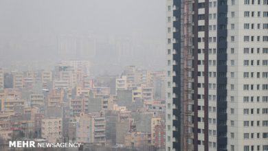 تصویر هوای تهران برای گروههای حساس جامعه ناسالم شد