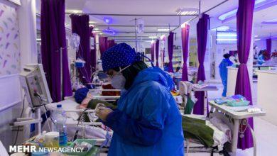 تصویر فوت ۸۳ بیمار کرونایی در شبانه روز گذشته/ ۱۰ شهر قرمز در کشور