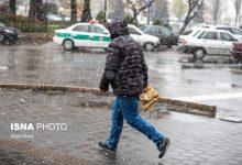 تصویر بارش برف و باران و وزش باد شدید در بیشتر مناطق کشور/ تهران برفی میشود