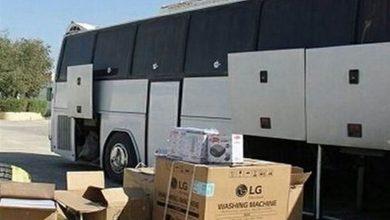 تصویر کشف کالای قاچاق میلیاردی از اتوبوس و کامیون
