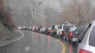 تصویر جاده چالوس مسدود شد/ بارش و لغزندگی در محورهای ۱۰ استان