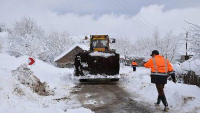 تصویر راه ارتباطی ۲۵ روستای شهرستان اهر مسدود شد
