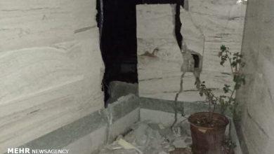 تصویر بارندگی در مناطق زلزله زده/راه اندازی اردوگاه موقت در سی سخت