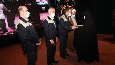 تصویر دکتر سلیمانی مدیرعامل صدر تامین در مراسم تجلیل از ایثارگران ذوب آهن اصفهان :