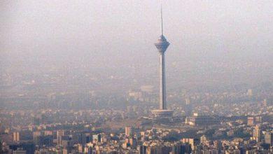 تصویر هوای پایتخت در هفتمین روز فروردین «ناسالم» است