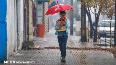 تصویر سامانه بارشی امشب از آذربایجانشرقی خارج میشود