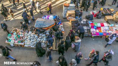 تصویر بساط کرونا در بازار تبریز و اشتیاق مردم برای خرید عید