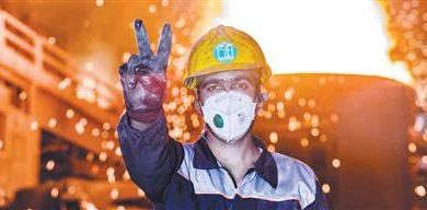 تصویر عزم فولاد مبارکه تحقق شعار سال و ارتقای جایگاه فولاد مبارکه است