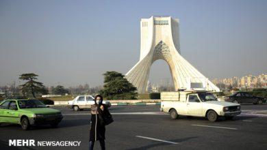 تصویر کاهش کیفیت هوای تهران نسبت به سال گذشته