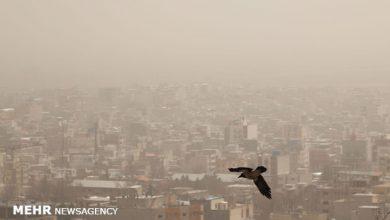 تصویر هوای تهران برای گروههای حساس آلوده است