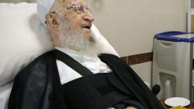 تصویر بهبود وضعیت جسمانی آیتالله مکارم شیرازی