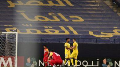 تصویر رئیس هیات مدیره باشگاه النصر عربستان علیه تراکتور ایران