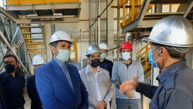 تصویر افتتاح کارخانه آهک هیدراته شهرستان اهر با حضور وزیر صمت