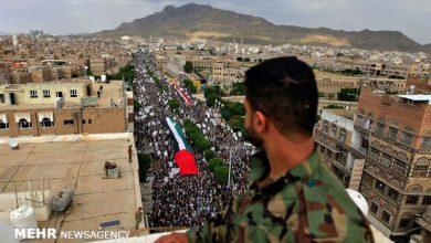 تصویر راهپیماییهای گسترده مردم یمن در حمایت از فلسطین