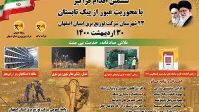 تصویر دومین مانور اقدام فراگیر سال ۱۴۰۰ شرکت توزیع برق استان اصفهان با محوریت عبور از پیک تابست