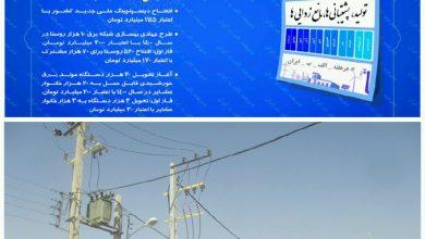 تصویر بهره برداری از پروژه های برق رسانی روستایی در ششمین هفته پویش هرهفته الف ب ایران در اصفهان