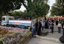 تصویر آبرسانی سیار در برخی نقاط شهر اصفهان