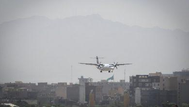 تصویر نقص فنی در هواپیمای پرواز تهران -کیش