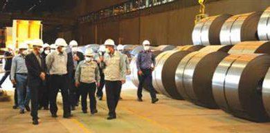 تصویر مدیرعامل شرکت گاز استان اصفهان در بازدید از شرکت فولاد مبارکه: