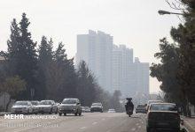 تصویر هوای تهران برای گروههای حساس آلوده شد