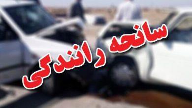 تصویر حادثه رانندگی در جاده میانه به زنجان سه نفر کشته درپی داشت