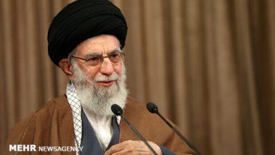 تصویر سخنرانی تلویزیونی رهبر انقلاب به مناسبت ۱۴ خردادماه