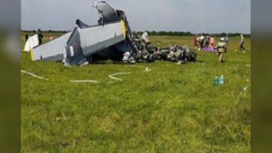 تصویر سقوط هواپیما در سیبری با ۷ کشته و ۱۳ مجروح