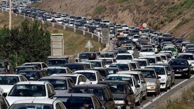 تصویر ترافیک در محورهای هراز و کندوان سنگین است
