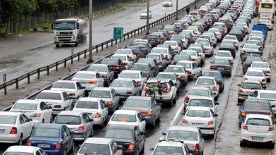 تصویر جاده چالوس به روی مسافران بسته شد/ ترافیک سنگین در محور هراز