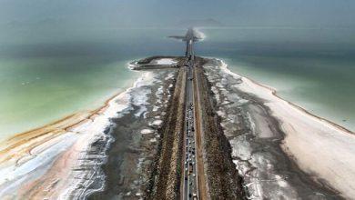 تصویر وسعت دریاچه ارومیه بیش از ۱۵۰۰ کیلومترمربع کاهش یافت