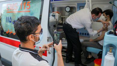 تصویر سه هزار نفر در مراکز سیار اورژانس تبریز واکسینه شدند
